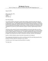 Sample Cover Letter For Office Administrator