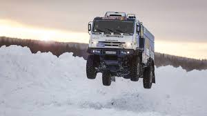 100 Truck Jump Watch This Dakar A Snow In Slow Motion Motorhive