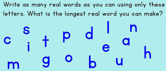 Make A Word With The Following Letters