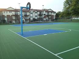 Backyard Basketball Court Cost Home Basketball Court Court Cost ... Outdoor Courts For Sport Backyard Basketball Court Gym Floors 6 Reasons To Install A Synlawn Design Enchanting Flooring Backyards Winsome Surfaces And Paint 50 Quecasita Download Cost Garden Splendid A 123 Installation Large Patio Turned System Photo Album Fascating Paver Yard Decor Ideas Building The At The American Center Youtube With Images On And Commercial Facilities