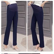 Cotton Pregnant Pants Maternity Clothes For Women Trousers Pregnancy Pant Slim Professional Belly Outside