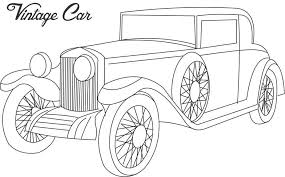 Vintage Car Coloring Printable Page For Kids 3