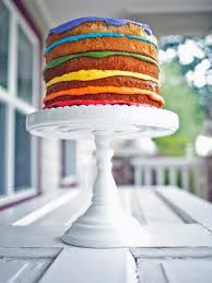 Naked Rainbow Layer Cake Recipe