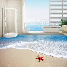 moderne einfache meer strand seestern 3d boden fliesen tapete badezimmer schlafzimmer pvc wasserdichte tragen aufkleber wandbild papel de parede 3 d