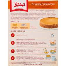 Libbys 100 Pure Pumpkin Pie Recipe by Libby U0027s Pumpkin Cheesecake Kit 17 75 Oz Box Walmart Com