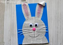 Finish Your Cute Newspaper Bunny Craft By Drawing A Line Down The Nose And Mouth With Black Marker Isnt He It Makes Darling Easter