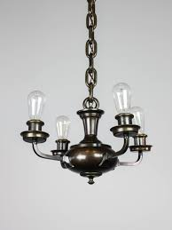 artistic arts crafts bare bulb pan light fixture 4 light