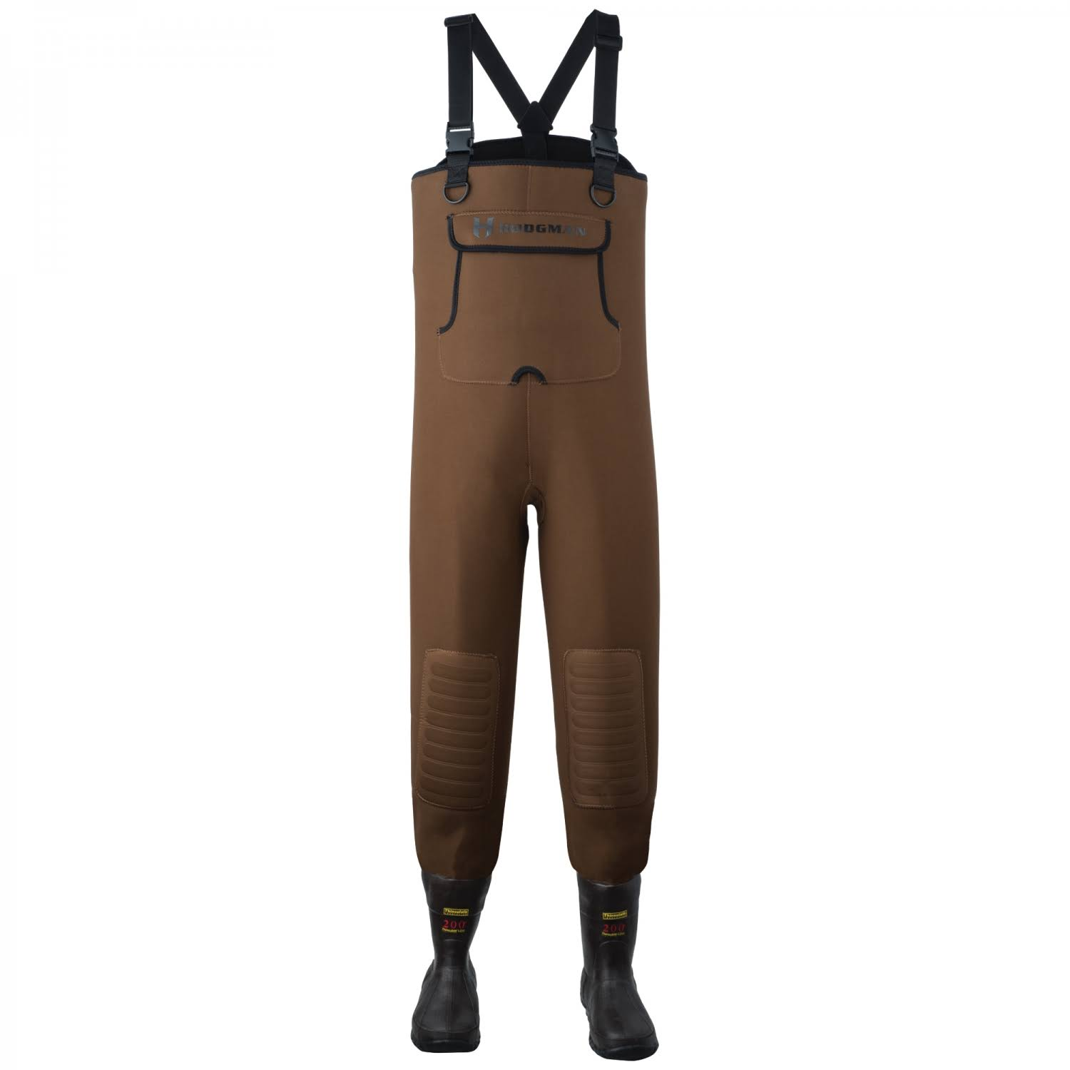 Hodgman Caster Neoprene Felt Bootfoot Chest Waders 12; Brown