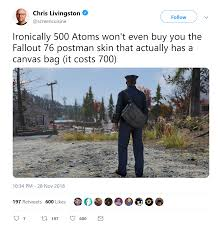 UPDATE: Bethesda To Replace Nylon Bags With Promised Canvas ... Fallout 76 Trictennial Edition Bhesdanet Key Europe This Week In Games Bethesda Ships 76s Canvas Bags Review Almost Hell West Virginia Pcworld Like New Disc Rare Stolen From Redbox Edition Youtubers Beware Targets Creators Posting And Heres For 50 Kotaku Australia Buy Fallout Closed Beta Access Pc Cd Key Compare Prices 4 Ps4 Walmart You Can Claim 500 Atoms If You Bought Game For 60 Fo76 Details About Xbox One Backlash Could Lead To Classaction Lawsuit
