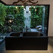 badewanne mineralwerkstoff serie freeze 180 cm schwarz matt 190 liter