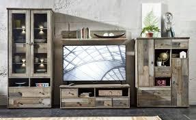 wohnwand wohnzimmer set bonanza 5 tlg vitrine kommode tv lowboard tv tisch wandregal couchtisch vintage shabby inkl beleuchtung