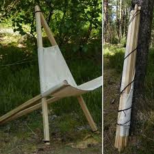 Homemade Foldable Bushcraft Chair Sitting Comfort