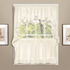 Amazon Kitchen Window Curtains by Amazon Com United Curtain Vienna Lace Double Crescent Valance 60