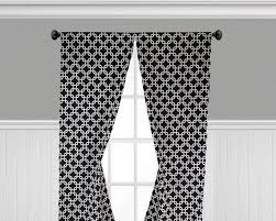 Black And White Curtains Window Treatments Modern Geometric