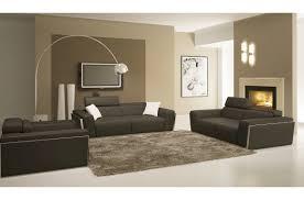 canapé cuir gris anthracite canapé 3 places 2 places fauteuil en cuir luxe italien vachette