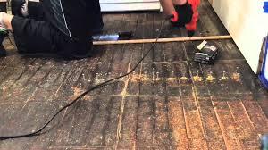 Squeaky Wood Floor Screws by Replacing Floor Part2 Fix Squeaky Floor Youtube