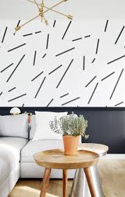 feature wall diy wallpaper with removable black ich