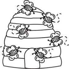 Beehive Bees Coloring Page Greatest Book