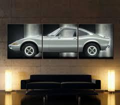 bilder drucke classic opel gt leinwand bild sportwagen