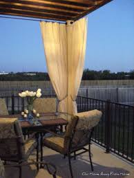 Vinyl Patio Curtains Outdoor by Our Home Away From No Sew Canvas Drop Cloth Outdoor Curtains Patio