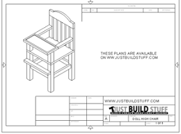 doll high chair plans are released justbuildstuff com