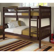 donco twin over twin bunk bed dark cappuccino hayneedle