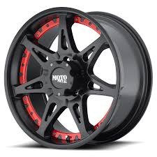 100 Black And Red Truck Rims Moto Metal MO961 Wheels MO961 On Sale