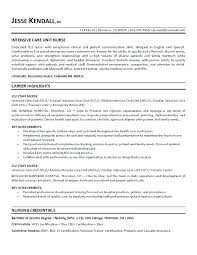 Pacu Rn Resume Template Free Intensive Care Unit Nurse Example A Registered Experienced