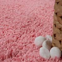 moderner badezimmer teppich einfarbig hochflor badteppich rutschfest in pink grösse 40x55 cm