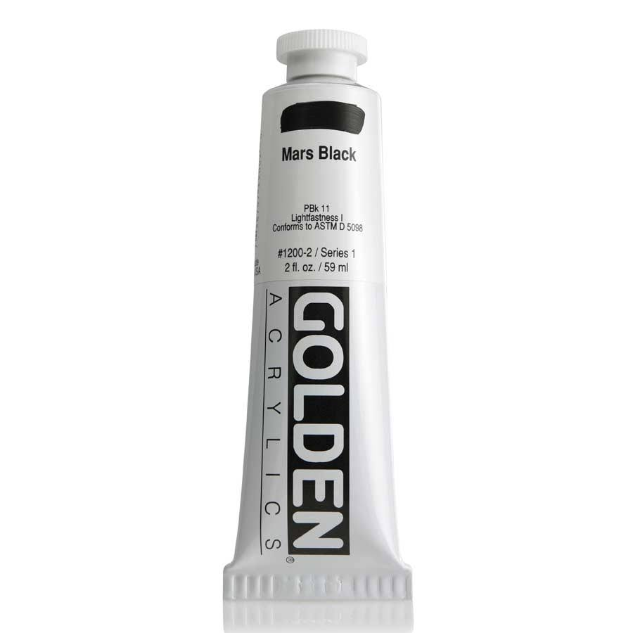 Golden Heavy Body Acrylic 2 oz. Mars Black