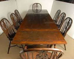 Description You Are Vieiwing A Gorgeous Set Of 8 Windsor Arm Chairs Around Matching Oak Refectory Table I Hope The Photos Do This Stunning