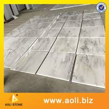 china white marble grey veins flooring tiles 20mm or 30mm
