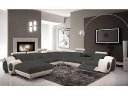 mobilier de canapé mobilier nitro canapé cuir panoramique fresno assise grise