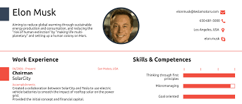 Elon Musk's One Page CV Show How You Never Actually Need More Than ... Free One Page Resume Template New E Sample 2019 Templates You Can Download Quickly Novorsum When To Use A Examples A Powerful One Page Resume Example You Can Use 027 Ideas Impressive Cascade Onepage 15 And Now Rumes 25 Example Infographic Awesome Guide The Rsum Of Elon Musk By How Many Pages Should Be General Freshstyle With 01docx Writer