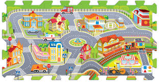 Foam Floor Mats South Africa by Trefl 8 Piece Baby Kids Infant Soft Foam Floor Mat City Fun Jigsaw