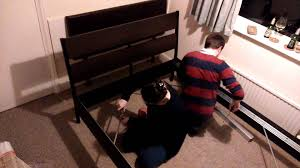 how to build an ikea trysil double bed time lapse youtube
