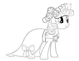 Rarity Coloring Pages My Little Pony