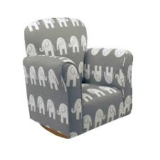 100 Cowboy In Rocking Chair Elephant Cotton Print Toddler Rocker Cotton