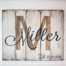 Last Name With Est Date Rustic Wooden Sign Made From Reclaimed Pallet Wood