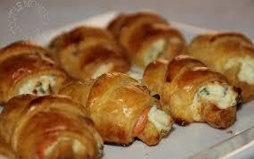 recette mini croissants au saumon fumé philadelphia et