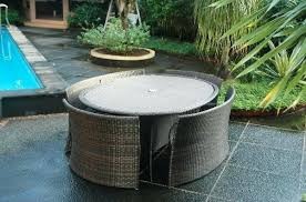 Semi Circle Outdoor Patio Furniture by Rattan Daybed Table Sun Canopy Lounger Garden Furniture Patio