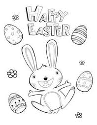 Easter Bunny Card Coloring