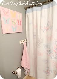 Guest Bathroom Decorating Ideas Pinterest by Bathroom Decor Small Little U0027s U0027s Butterfly Pink Gray Blue