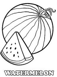 A Slice Of Fresh Watermelon Coloring Page