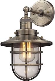 elk 66376 1 seaport nautical antique brass lighting wall sconce