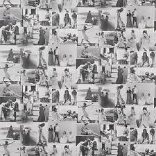 Image Is Loading Vintage Retro Black White Pink Old Photos Wallpaper