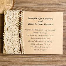 DIY Rustic Burlap And Lace Wedding Invitations