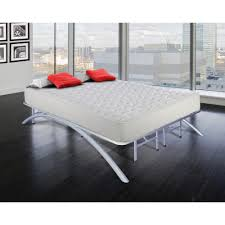 rest rite full size dome arc platform bed frame in silver