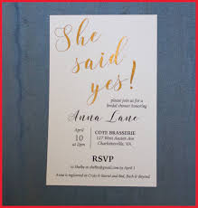 She Said Yes Bridal Shower Invitations 319738