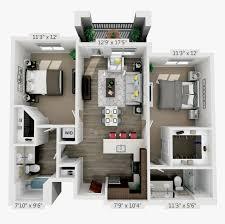 104 Two Bedroom Apartment Design Luxury Floor Plans 3d Png Download Luxury 2 S Plans Transparent Png Kindpng